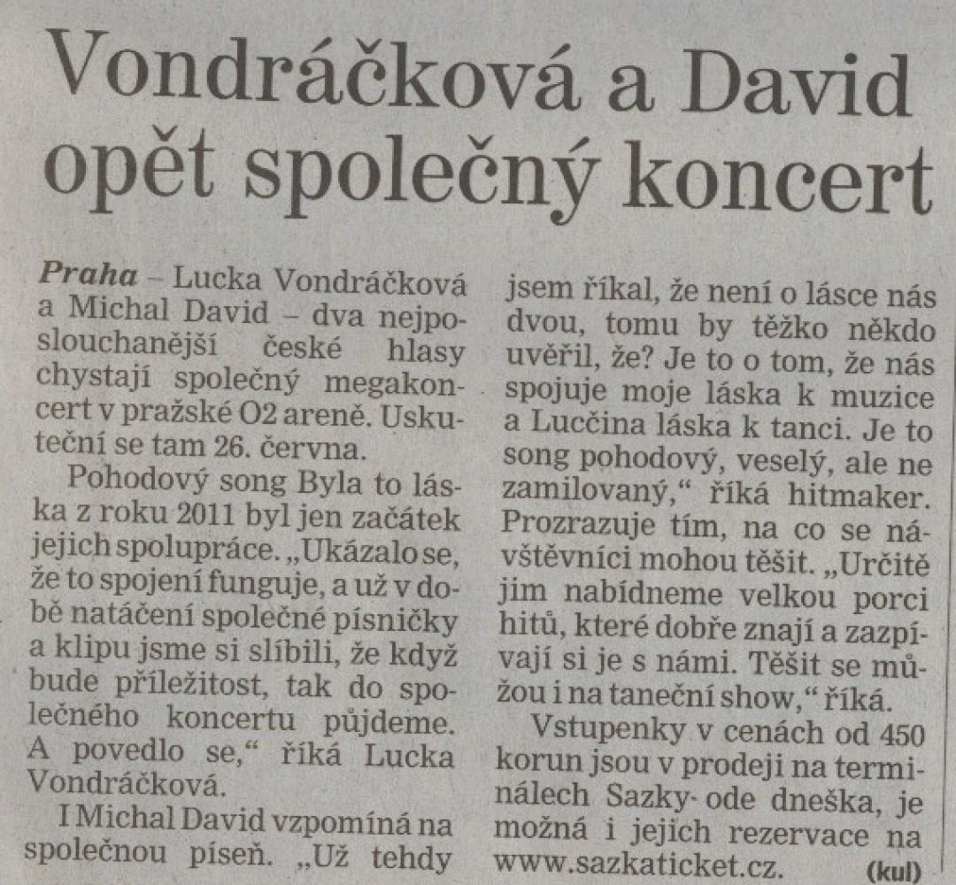 Lucka Vondráčková a Michal David koncet